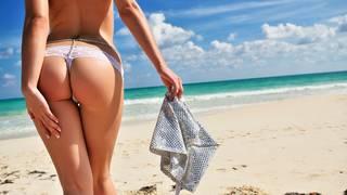 culo atractivo de la playa.