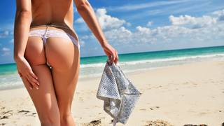 Sexy beach ass.
