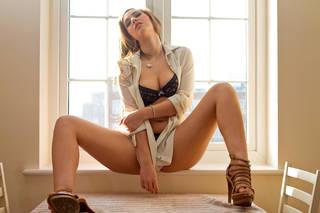 Beautiful half-naked sexy girl
